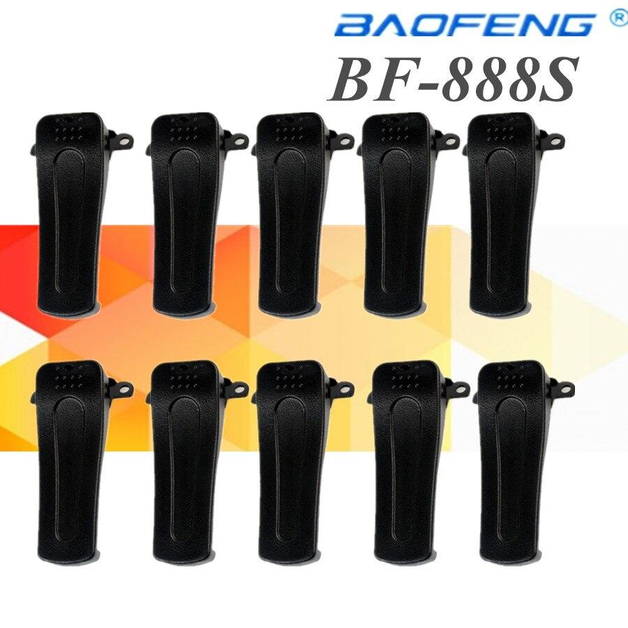 imágenes para 10 unids clip de cinturón para baofeng walkie talkie retevis h777 baofeng bf-666s bf-777 bf-888s radio de dos vías