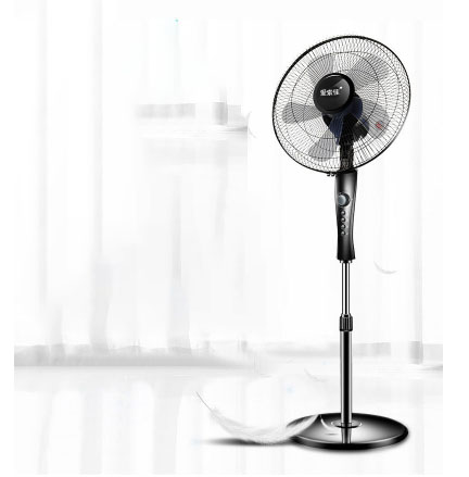 16''Electric Fan Household Floor Fan Vertical Mechanical Dormitory Three 60 Mins Of Time, 5 Remote Control Wide Angle Air Supply