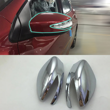 Car Accessories Exterior ABS Chrome Rearview Mirror Decoration Cover 2pcs For Nissan Tiida 2016 Styling