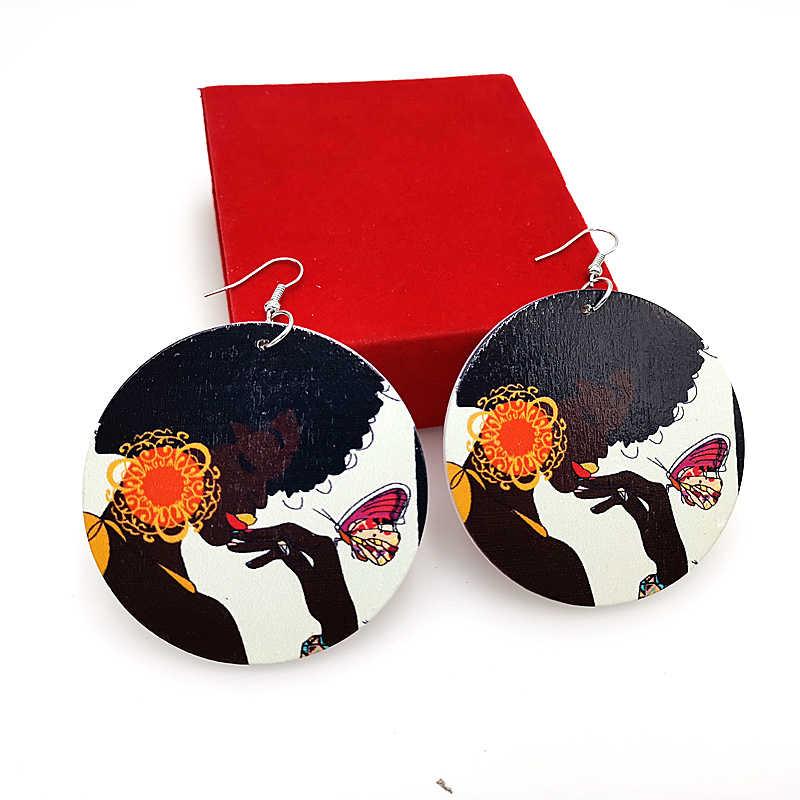 YD & YDBZ Африка Этнические серьги из дерева для женщин деревянные украшения классические серьги-капли геометрические ювелирные изделия оптовая продажа большая серьга