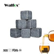 Walfos 100% natural uísque pedras beber gelo cubo uísque pedra uísque rock cooler presente de casamento favor barra de natal acessórios