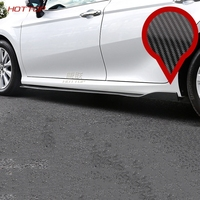 Карбоновые боковые юбки кузов бампер боковой юбки Крышка для Toyota Camry 2018 2019 8th внешние аксессуары