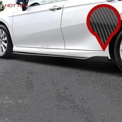 Węgla spódnice po stronie samochodu Bodykit zderzak boczny spódnica pokrywa dla Toyota Camry 2018 2019 8th akcesoria zewnętrzne w Chromowane wykończenia od Samochody i motocykle na