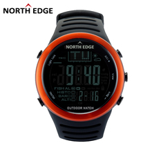 Discount! NORTHEDGE Men Digital watches outdoor watch clock Fishing weather Altimeter Barometer Thermometer Altitude Climbing Hiking hours