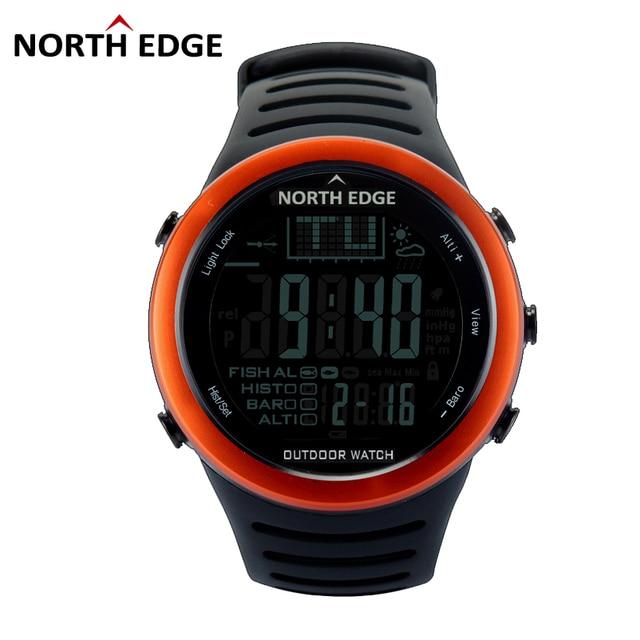 901c325cf29 NORTHEDGE Uomini Digitale orologi outdoor vigilanza di orologio di Pesca  meteo Altimetro Barometro Termometro Altitudine Arrampicata