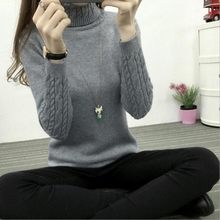 2018 New Women Turtleneck Winter Sweater Women 2017 Long Sleeve Knitted Women Sweaters And Pullovers Female Jumper Tricot Tops