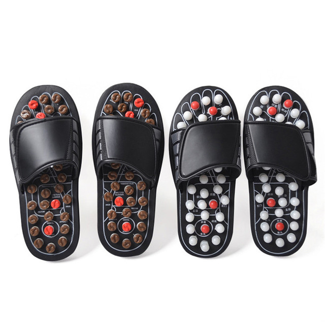 2 Colors One Pair Foot Massage Shoes Man And Women Rotating Foot Acupuncture Healthy Relaxation Slipper Sandals Reflex Stress 4