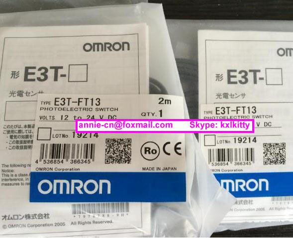 New and original  E3T-FT13, E3T-FT11  OMRON Photoelectric sensor  Photoelectric switch   12-24VDC    2M  цены