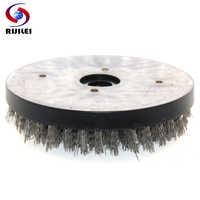 RIJILEI 8 pouces ronde Antique brosse Abrasive fil d'acier Antique roue de polissage fil rond brosse de nettoyage pour granit YG09