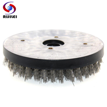 RIJILEI 8 inch Round Antique Abrasive Brush Steel Wire Polishing Wheel wire cleaning brush for granite YG09