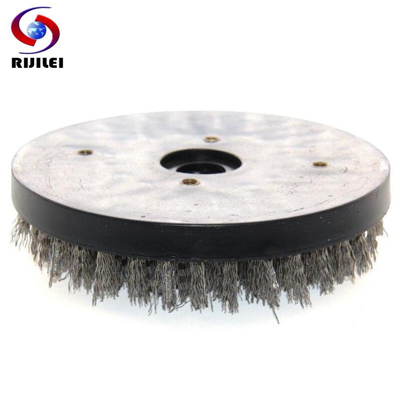 RIJILEI 8 polegada Redonda Antique Escova Abrasiva Polimento Roda fio Redondo Antigo Fio De Aço escova de limpeza para o granito YG09