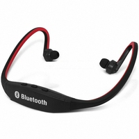 Classic Neckband Sport Stereo Bluetooth Earphone Wireless Headphone Sweatproof Headset With Micro SD TF Card Slot