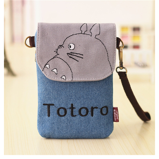 Totoro Women Canvas Mini Shoulder Bags Handbags