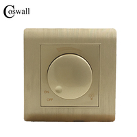 Free Shipping Kempinski Luxury Wall Switch Light Dimmer Champagne Gold AC 110 250V C31 Series