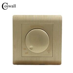 Image 1 - Ücretsiz kargo COSWALL lüks duvar ışık anahtarı karartıcı kontrol cihazı şampanya altın AC 110 ~ 250V C31 serisi