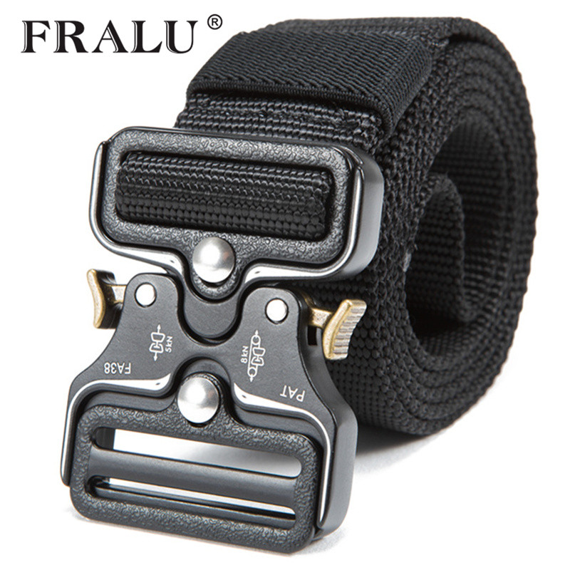 NewTactical   Belts   Nylon Military Waist   Belt   with Metal Buckle Adjustable Heavy Duty Training Waist   Belt   Hunting Accessories