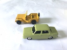 Atlas 2PCS Diecast Car model 1:43 ATLAS JUNIOR 104 SIMCA & Dinky Toys 24M CIVILE