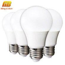 [Mingben] 4 шт. светодиодные лампы E27 3 Вт 5 Вт 7 Вт 9 Вт 12 Вт 15 вт 220 В холодный белый теплый белый лампада Smart LED IC Высокое Яркость стол свет