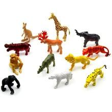 06fa8b485a9d 12 piezas animales modelo plástico zoológico Safari figura selva animales  salvajes niños juguete fiesta bolsa relleno