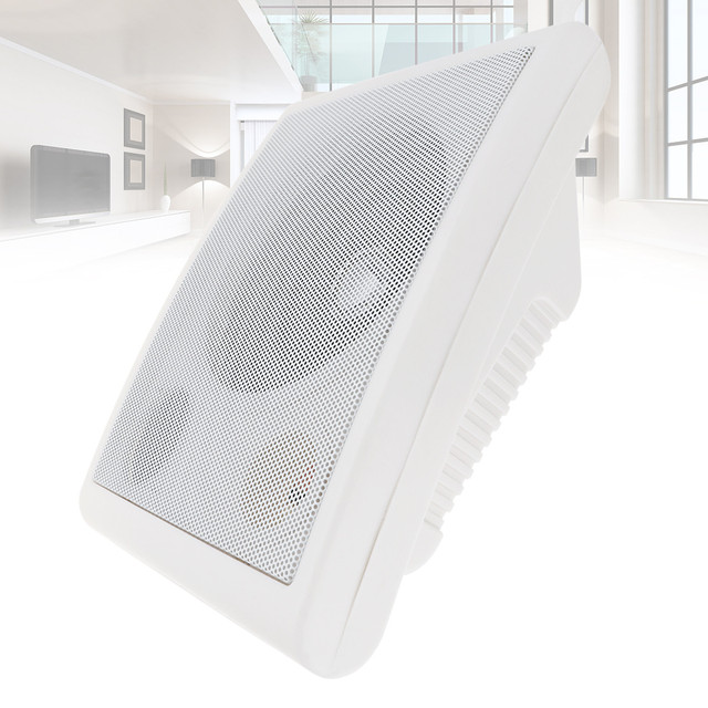 6.5 Inch 10W Wall-mounted Ceiling Speaker Public Broadcast Music Player for Home Park School Shopping Mall Railway Station