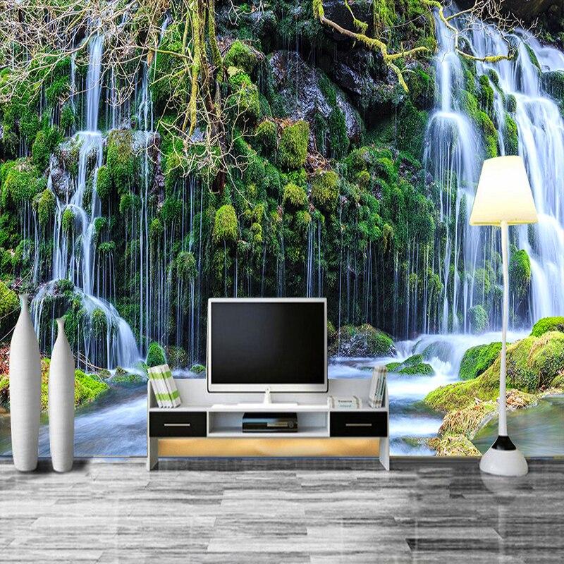 3D Room Wallpaper Custom Mural Non-woven Murales De Pared Modern HD Waterfall Scenery Photo Wall Paper 3D Wall Murals Wallpaper
