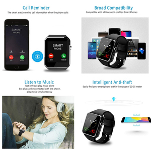 Image 4 - Bluetooth X6 Smart Watch Men with Camera Touch Screen Wrist Smartch Watch for Android IOS Phone Sports Smartwatch Women Sim Card