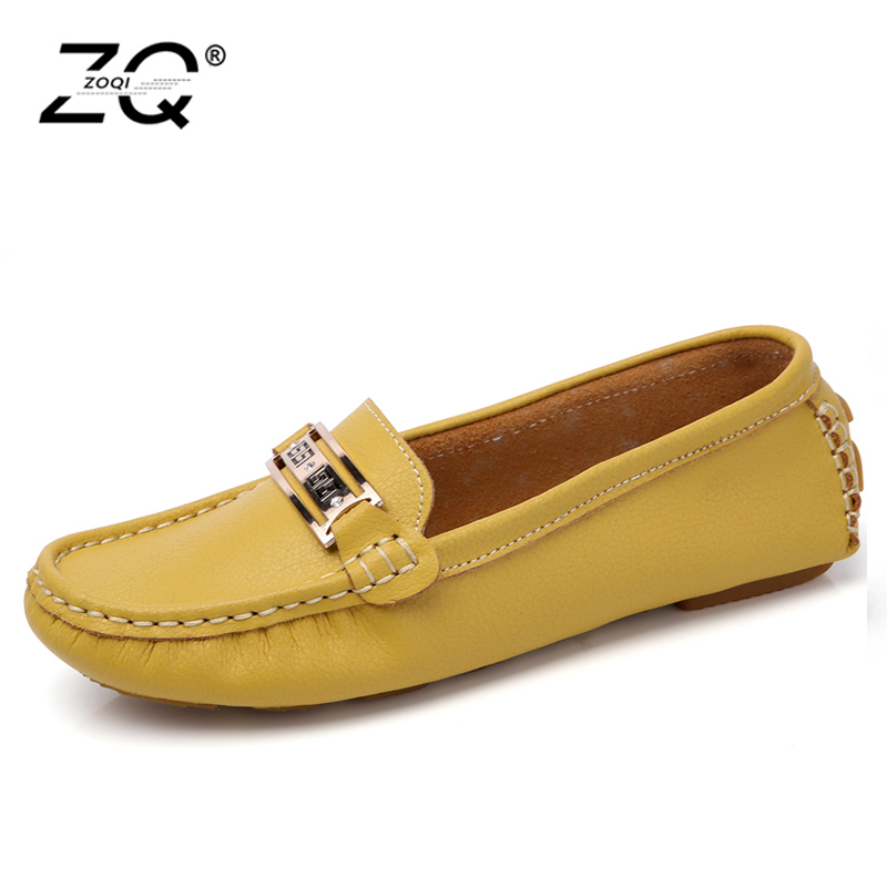 ZOQI Shoes Woman Genuine Leather Shoes Casual Slip-On Ballet Women Flats Cut Out Printing Moccasins Ladies Shoes White Summer 2017 summer new women fashion leather nurse teacher flats moccasins comfortable woman shoes cut outs leisure flat woman casual s