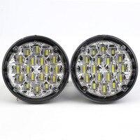 New Hot 2 Pcs Waterproof 12V 18 LED Round Auto Car Fog Lamp Driving Daytime