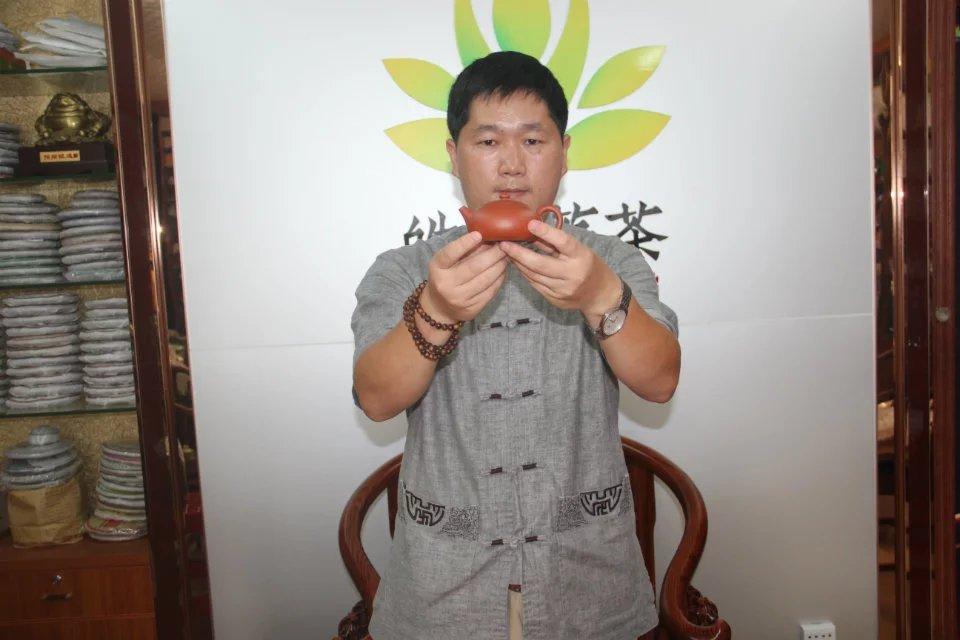 Yixing Teapot Purple Clay Teapot Undressed Ore Mud Flat Zhu Xi Shi Pot All Hand Teapot For Oolong Dahongpao Gaba 145 Ml