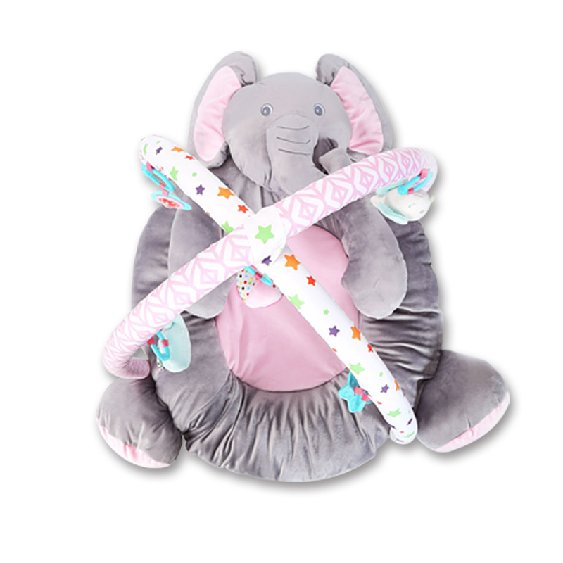 BEIKAPAIDI Fun Elephant Game Blanket Baby Safety Game Pad Training Crawl Fitness With Music Game Blanket Cartoon Music Ornaments