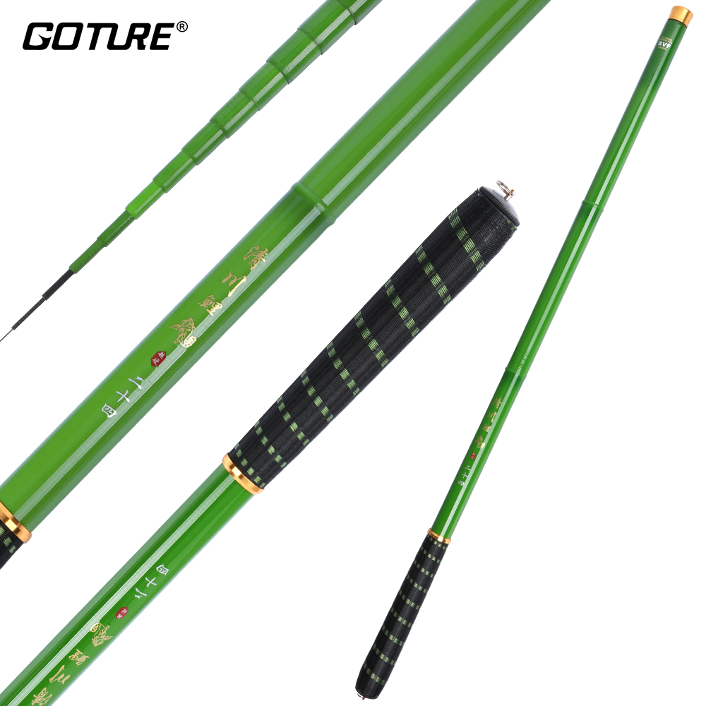 Goture brand ultralight carp fishing rod carbon fiber hand for Green fishing rod