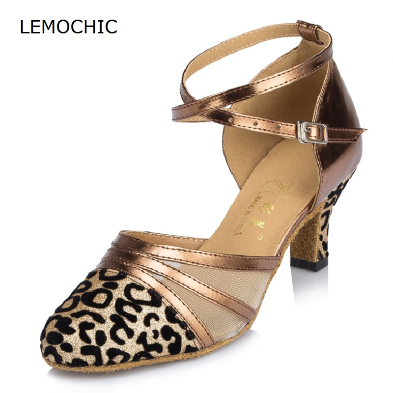 LEMOCHIC adult good quality spring new listing ladies cha-cha salsa tango pole double steps professional classical dancing shoes