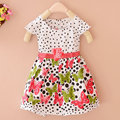 Stylish Summer Baby Girls Kids Short Sleeve Dress Polka Dots Butterfly Princess One-piece Dresses