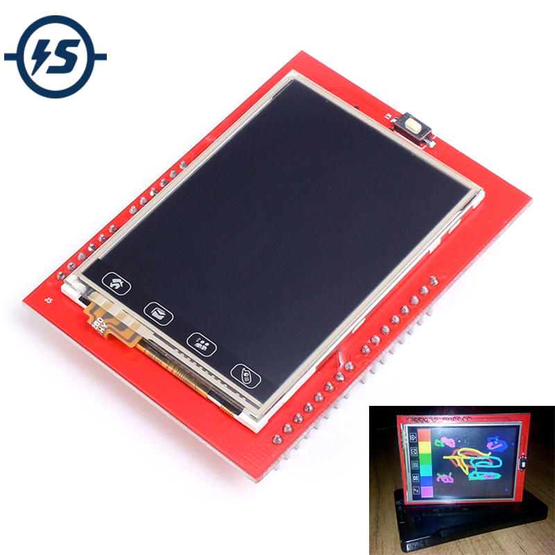 For Arduino UNO R3 Mega2560 TFT LCD Touch Screen Display 2.4 Inch Shield LCD Module 18-bit 262,000 Different Shades Board