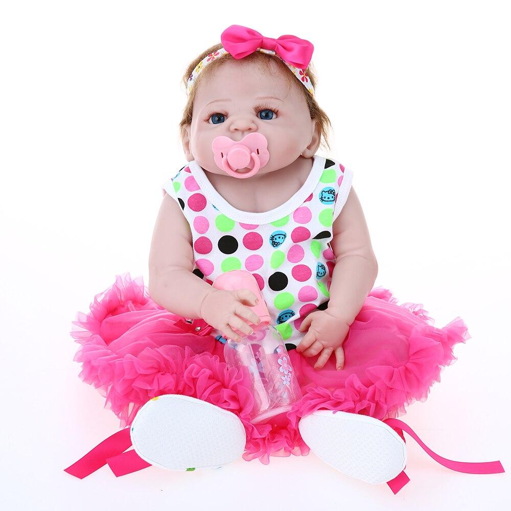 22inch Reborn Baby Doll Menia 55cm Full Silicone Princess Doll Baby ...