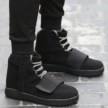 2016แฟชั่นฤดูใบไม้ร่วงบู๊ทส์ผู้ชายผู้หญิงรองเท้ากลางแจ้งแพลตฟอร์มk anyeฮิปฮอปรองเท้าลูกไม้ขึ้นข้อเท้าบู๊ทส์สำหรับWestทหารรองเท้า