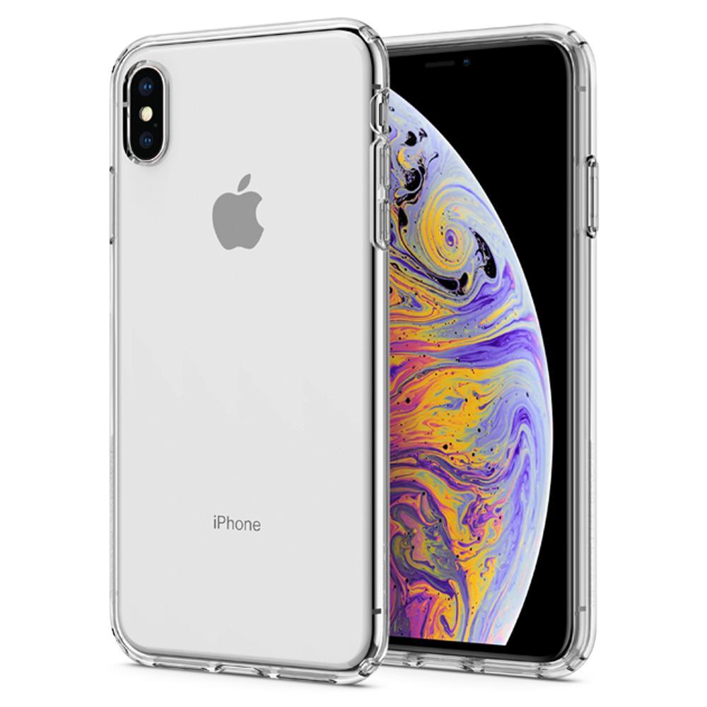 100% original spigen cristal líquido flexível macio tpu cristal caso claro para iphone xs max/xs/xr/x
