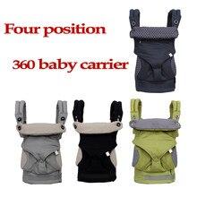 Portador de bebê ergonômico 360 omni algodão orgânico quatro posição 360 portador de bebê respirável fresco ar infantil portador mochila