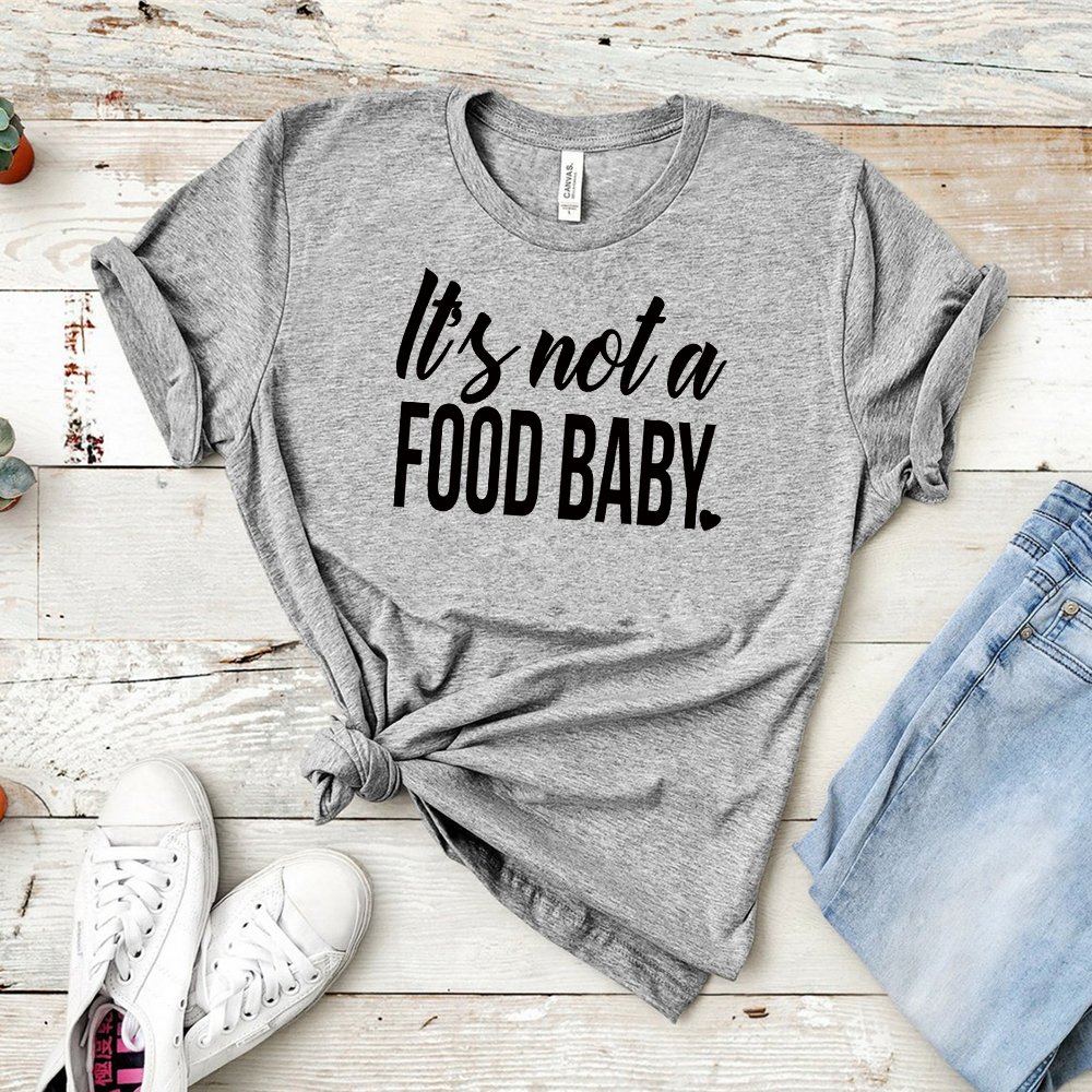 2019 Pregnancy Announcement Shirt It's Not A Food Baby Pregnant T-Shirt Pregnancy Reveal Shirt Pregnant AF Expecting Tshirt,