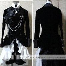 Disfraz Cosplay japonés anime negro Butler disfraz Ciel Phantomhive negro  disfraz incluye sombrero 30dae1182320