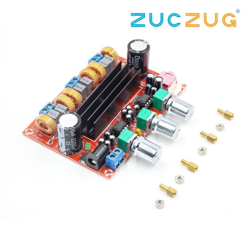Nuevo tablero del amplificador TPA3116D2 50Wx2 + 100 W 2,1 Canal Digital Subwoofer 12 ~ 24 V