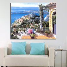 Painting By Numbers Diy Pictures House Landscape Oil Paint Drawing Coloring On Canvas Hand Framework Wall Modular Artwork