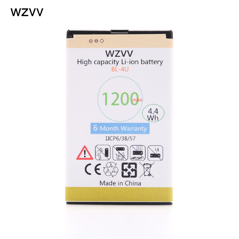 Glorieus Wzvv 1200 Mah Bl-4u Batterij Voor Nokia 206 515 5250 5330 Xpressmusic 5730 C5-03 E66 Asha 300 500 8800 Arte E75 + Tracking Code