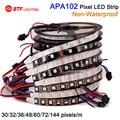 wholesale APA102  non waterproof DC5V 30/32/36/48/60/72/144 leds/pixels/m ,led digital strip individual addressable dream color