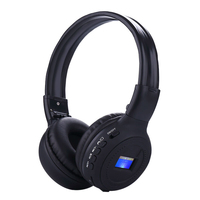 Wireless Stereo Bluetooth Headset Headphones Hands Free Calling TF Card MP3 Play FM Radio LCD Screen