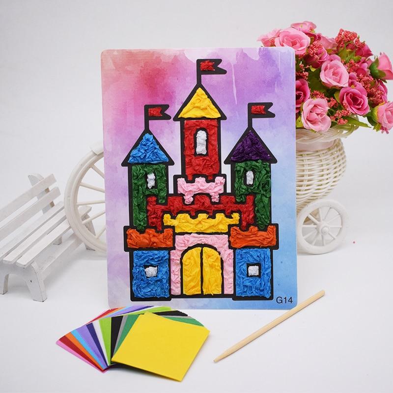 Diy Crafts Material Toys For Children Felt Paper Handicraft Material Kids Kindergarten Funny Arts And Crafts Girl Boy New Gift