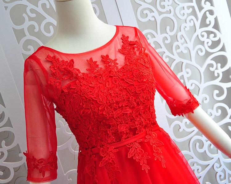 Red Colour Long Dress Wedding Party Dresses For Women  Sexy Dress  Bridesmaid Dresses Back Of Bandage