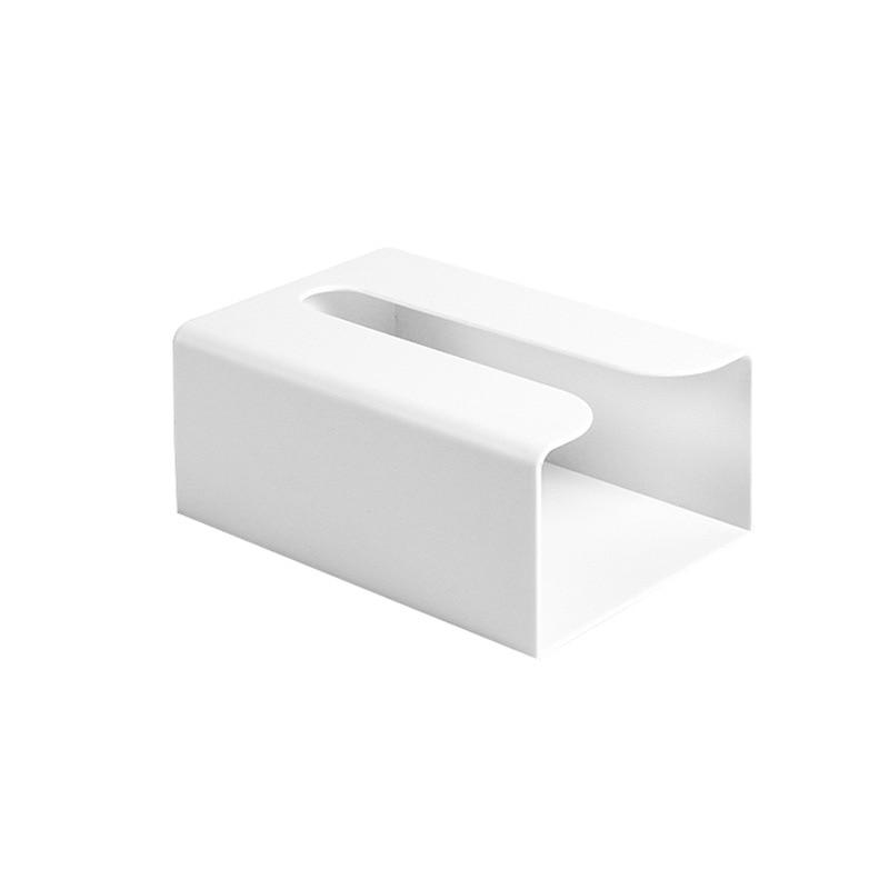 1 шт. кухонная бумажная коробка для хранения бумажная коробка паста настенный держатель для бумажных полотенец коробка для туалетной бумаги цвет белый/серый/розовый - Цвет: 1