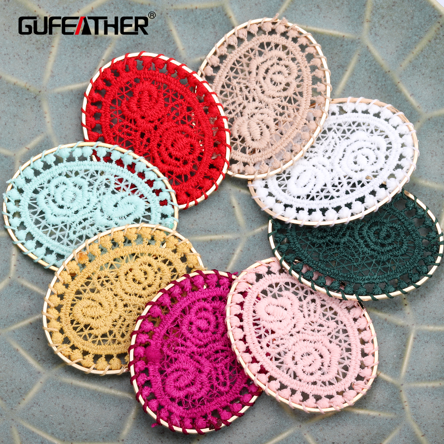 GUFEATHER M367,Hand Knitting,oval Shape,hand Made,jewelry Findings,jewelry Making,diy Jewelry,home Decorative,10pcs/pack