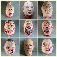 Simulation Head for Haunted House Props Biochemical Decay Head Trick Halloween Scary Decorations Scary Devil Head